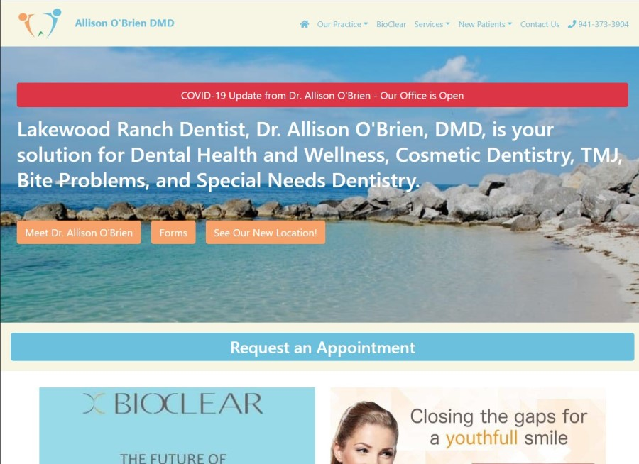 custom website for lakewood ranch dentist LWR